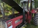 Brand eines Traktors